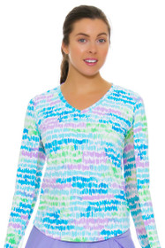 Brushed Monet Print V-Neck Sun Shirt