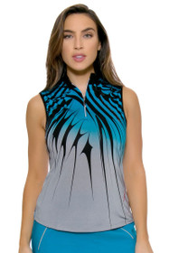 Line Pattern Golf Sleeveless Shirt