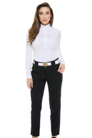 Jofit Women's Basics Black Belted Cropped Golf Pant