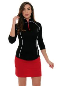 Jofit Women's Barossa Sport Lipstick Brushed Jersey Mina Golf Skort