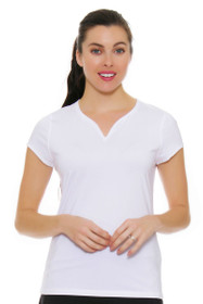 Cap Sleeve White Tennis Shirt