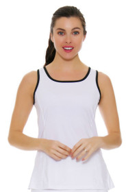 Back Peplum White Tennis Tank