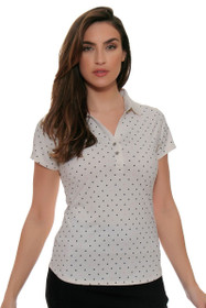 Cutter & Buck Women's Simone Aubrey Print Golf Short Sleeve Shirt