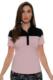 Cutter & Buck Women's Simone Deco James Colorblock Golf Short Sleeve Shirt