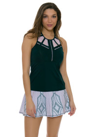 Lucky In Love Women's Green With Envy Green Envy Long Tennis Skirt