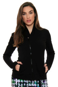 EP Sport Women's Prismatic  French Terry Asymmetric  Collar Jacket