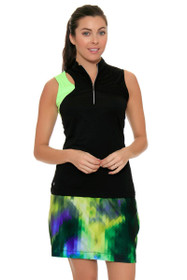 EP Sport Women's Prismatic Pixelated Floral Print Pull On Golf Skort
