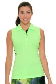 EP Sport Women's Prismatic  Mesh Blocked Golf Polo Shirt