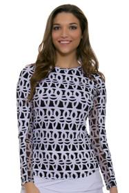 Shilia Chain Print Sun Shirt