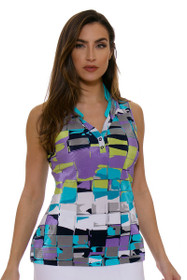 Tile Print Golf Sleeveless Shirt