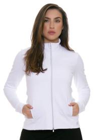 Sofibella Women's Basic White UV Protect Fitted Jacket