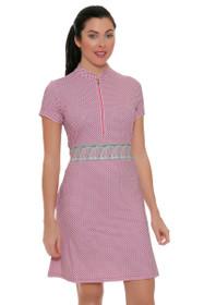 Fairway and Greene Women's Garden Party Magnolia Strawberry Golf Dress