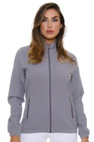 Adidas Women's Energy Essentials Full Zip Grey Wind Jacket