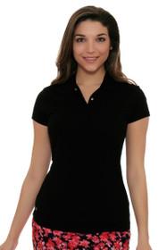 EP Sport Women's Mahalo Manele Back Pleat Golf Short Sleeve Shirt