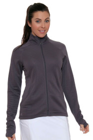 Essentials 3-Stripe Grey Full Zip Jacket