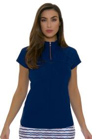 Annika Women's Above Board Mock Golf Cap Sleeve Shirt