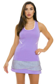 Lucky In Love Women's Snake Charmer Long Scallop Lilac Tennis Skirt