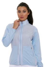 Adidas Women's Climastorm Fashion Easy Blue Wind Jacket
