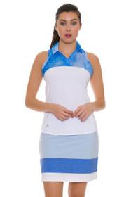 Adidas Women's Ultimate 365 Adistar Easy Blue Golf Skort