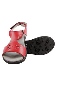 Sandbaggers Women's Red Carrie Golf Sandals
