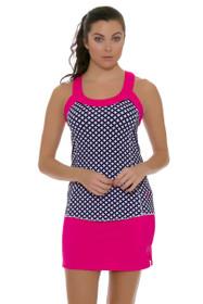 Jofit Women's Napa Sport Hot Pink Jacquard Mina Tennis Skirt