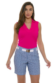 Jofit Women's Napa Sport Pinstripe Belted Golf Short
