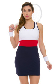 Fila Women's  Heritage Striped Navy Tennis Dress