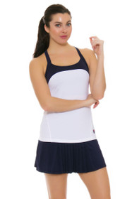 Fila Women's Heritage Front and Back Pleated Navy Tennis Skirt