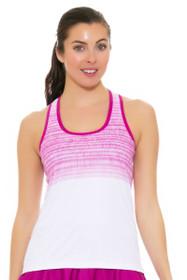 Solfire Women's Artisan Stretch Your Limit White Raspberry Tennis Tank