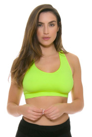 Electric Yoga Women's Spring Diamond Back Bright Yellow Sports Bra