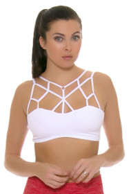 Electric Yoga Women's Spring Loving White Sports Bra