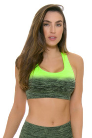 Electric Yoga Women's Spring Faded Lime Green Sports Bra