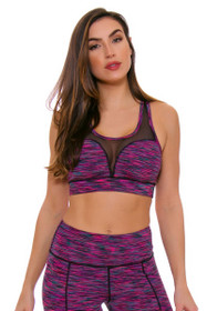 TLF Women's Spring Havoc Sangria Space Dye Sports Bra