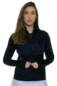 Cutter & Buck Women's Pearl Liberty Navy Ava Hybrid Full-Zip Jacket