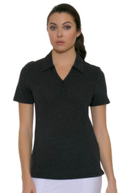 Cutter & Buck Women's Basics Charcoal Championship Golf Short Sleeve Polo