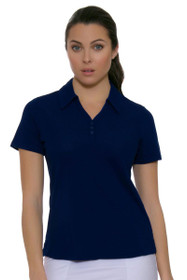 Cutter & Buck Women's Basics Tour Blue Championship Golf Short Sleeve Polo