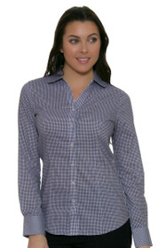 Cutter & Buck Women's Tattersall Long Sleeve Polo