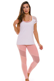 TLF Women's Spring Margoux Blush Rebus Workout Legging