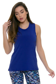 PrismSport Women's Muscle T Royal Workout Top