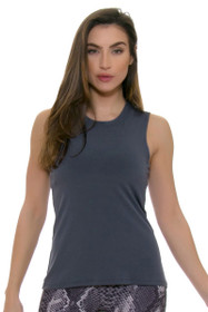 PrismSport Women's Muscle Tee Slate Workout Top