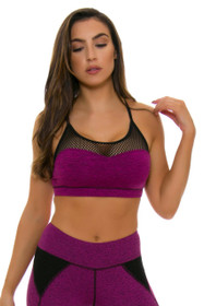 ChiChi Active Women's Halle Mesh Mulberry Heather Dye Sports Bra