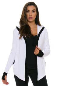 ChiChi Active Women's Jojo Crop Hooded White Jacket
