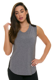 ChiChi Active Women's Suzanne Heather Grey Black Workout Tank