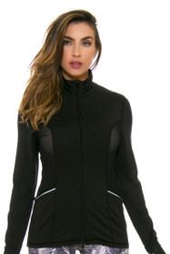 PrismSport Women's Laser Training Black Jacket
