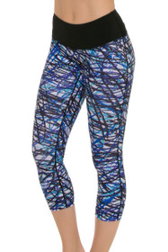 PrismSport Women's Classic II Scribble Workout Capri
