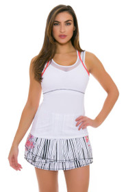 Lucky In Love Women's Outside the Lines Long Pleat Tier Tennis Skirt