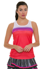 Lucky In Love Women's Outside the Lines Fresh Cinch Flame Tennis Tank