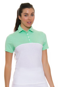Redvanly Women's Grace Green and White Short Sleeve