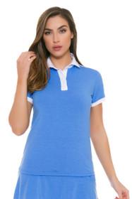 Redvanly Women's Scholes Blue Golf Short Sleeve