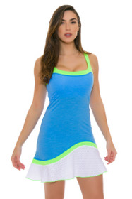 Sofibella Women's Triumph Flounce Cami Sky Blue Tennis Dress